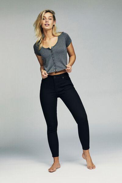 Mid Rise Grazer Skinny Jean, CORE BLACK