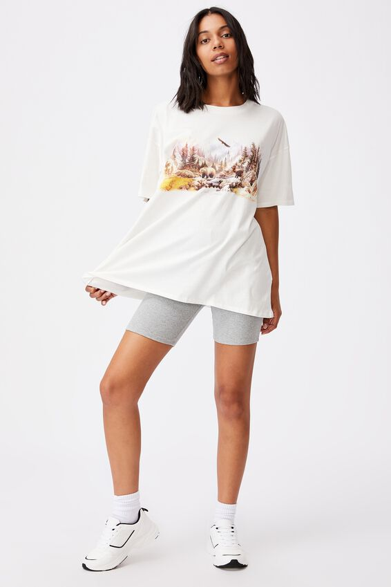 Oversized Graphic T Shirt Dress, NORTH CAROLINA LANDSCAPE/GARDENIA
