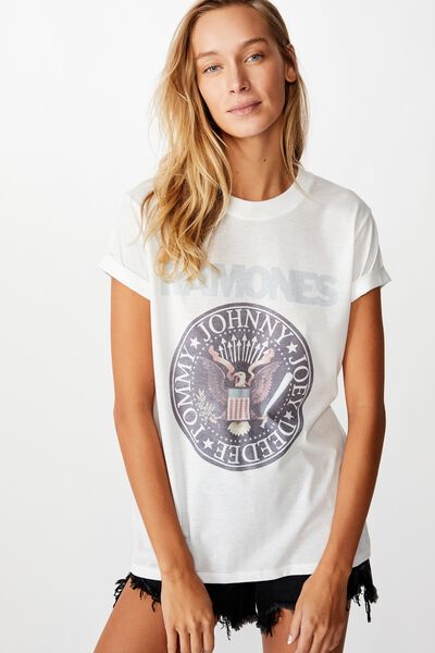Classic Band T Shirt, LCN MT RAMONES SEAL/WHITE