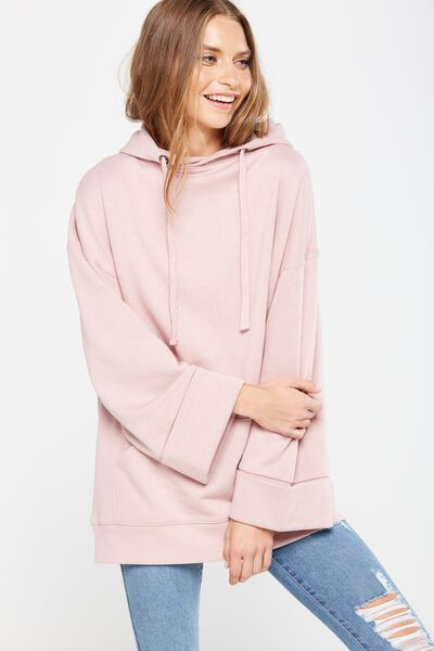 Kiki Kimono Hooded Pullover, SOFT PINK