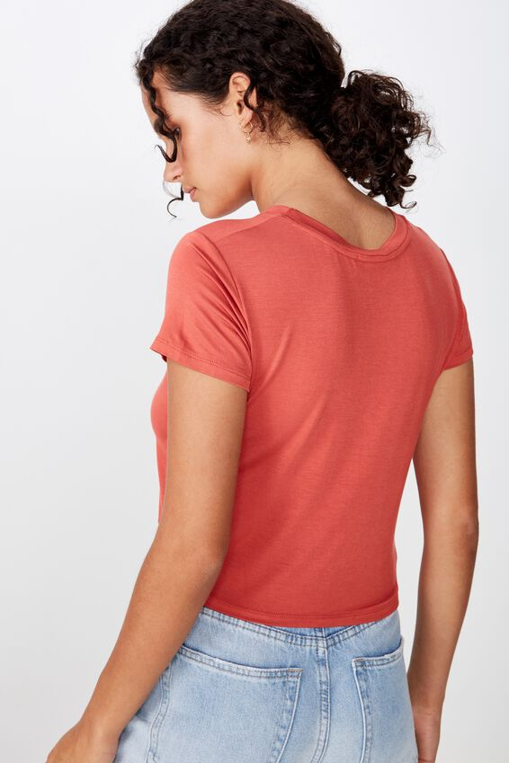 The Baby Tee, RUSTIC RED