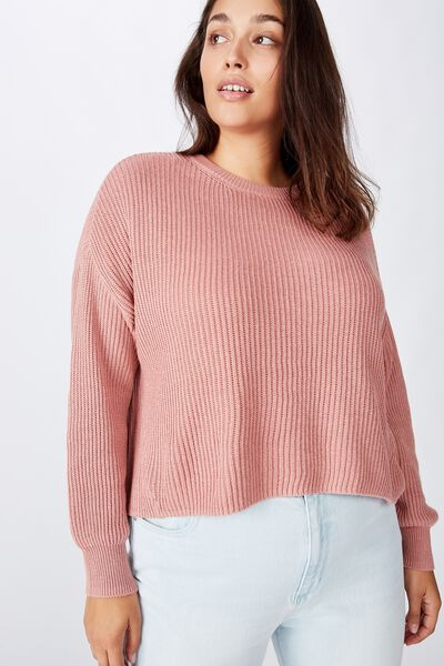 Curve Crop Pullover, OLD ROSE