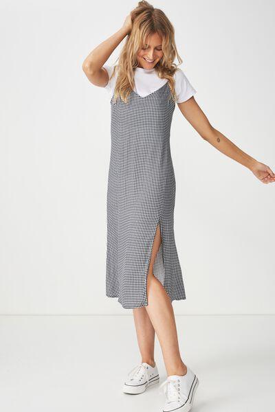 Woven Bloom Maxi Slip Dress, DARIA CHECK