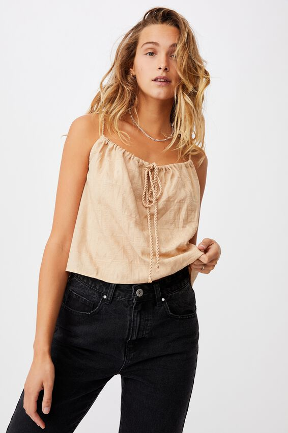 Summer Vibes Relaxed Cami, WARM STONE