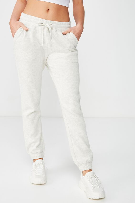 Slim Fit Trackpant, OAT MARLE