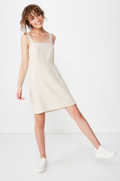 Woven Krissy Dress, LATTE MARLE- LWS