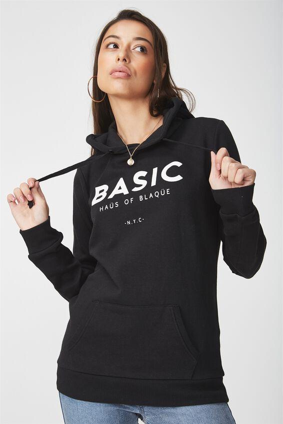 Delevingne Graphic Hoodie, BASIC BLAQUE/BLACK