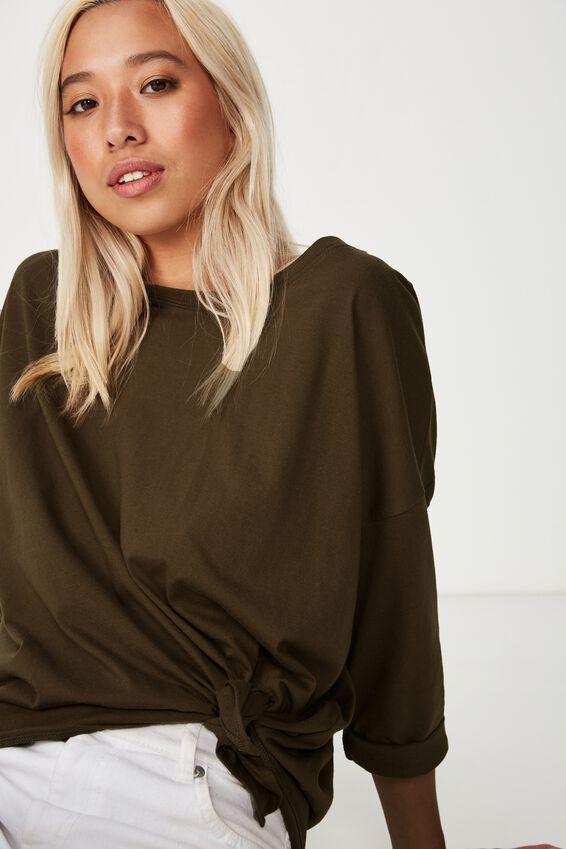 Aimee Oversized Long Sleeve Top, BEECH