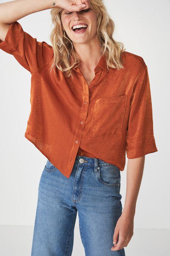 Rebecca Chopped Shirt, GINGERBREAD