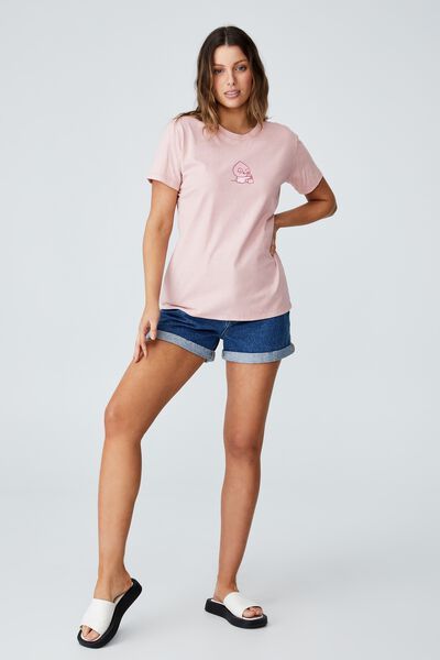 Classic Pop Culture T Shirt, LCN KAKAO BEAR APEACH WINK/ZEPHYR