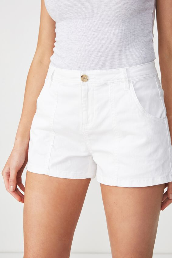 Panel Pocket Chino Short, WHITE