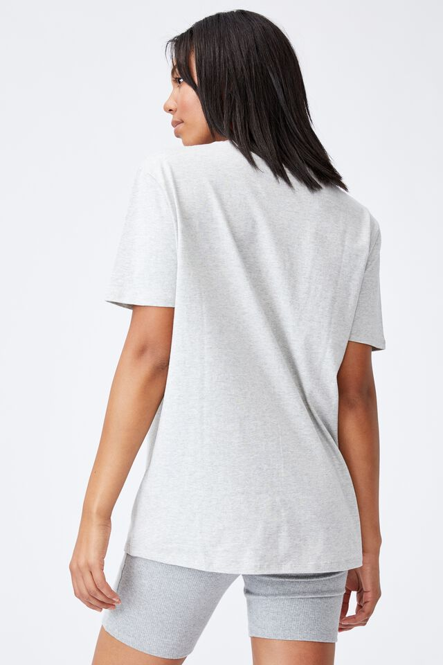 The Oversized Dad Tee, LIGHT GREY MARLE