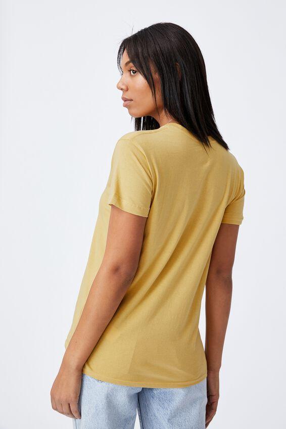 Classic Slogan T Shirt, HONEY/COCOON
