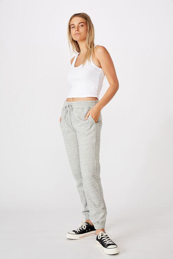Slim Fit Trackpant, GREY MARLE