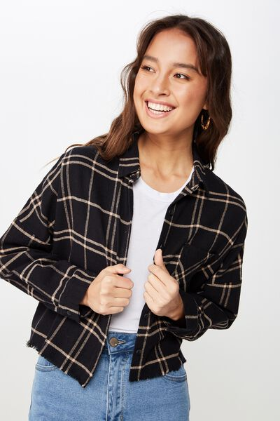 b8d1a662207547 Megan Chopped Shirt