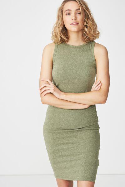 Lena Midi Dress, SOFT KHAKI MARLE