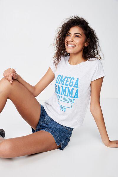 Essential Slogan T Shirt, OMEGA GAMMA/SILVER MARLE