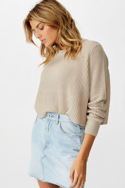 Archy Cropped 2 Pullover, CHATEAU GREY