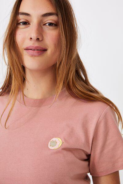 Classic Pop Culture T Shirt, LCN PUSH PUSHEEN DOUGHNUT/BLUSH