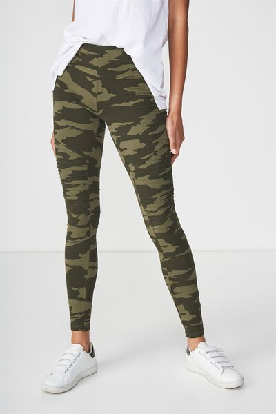 Tranquil Legging, DUO CAMO/DARK GREEN