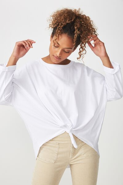 Shelby Oversized Top, WHITE