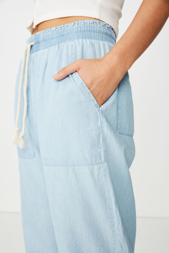 Beach Resort Pant, LIGHT BLUE