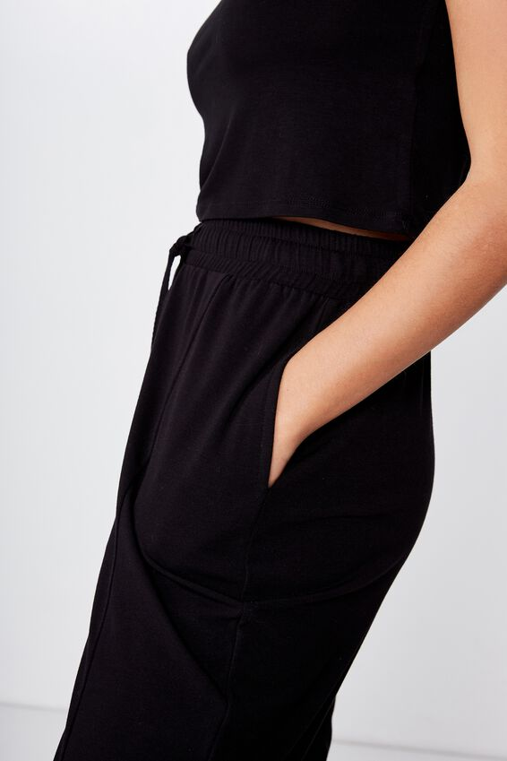 Relaxed Lounge Pant, BLACK