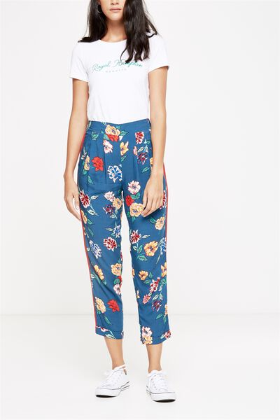 Kali Drapey Pant, LULU FLORAL NAVY/RED RACING STRIPE