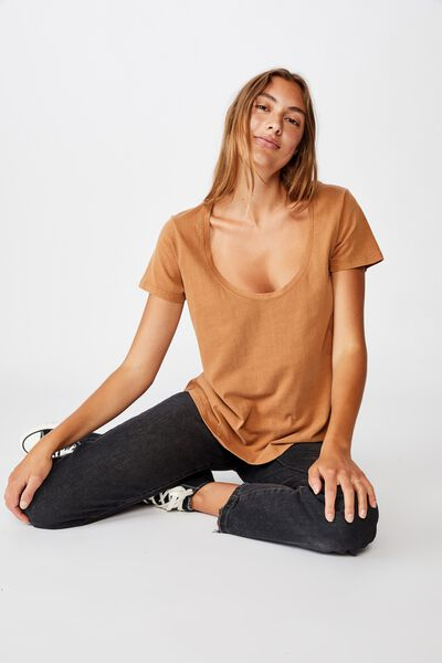 The One Scoop Tee, WASHED LION