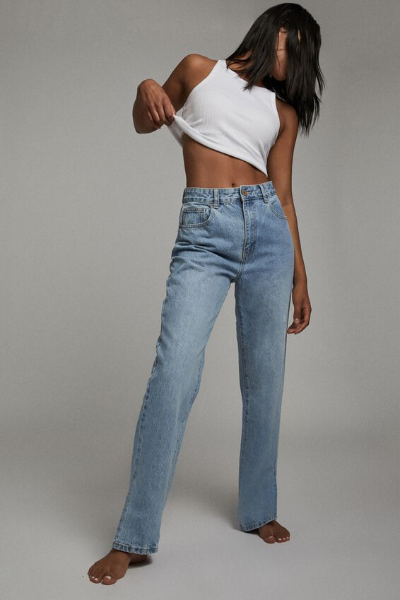 Straight Split Jean, LENNOX BLUE