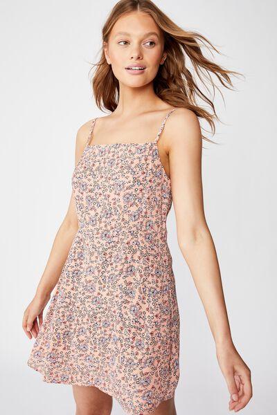 Woven Kendall Mini Dress, LUNA FLORAL PAISLEY RUST