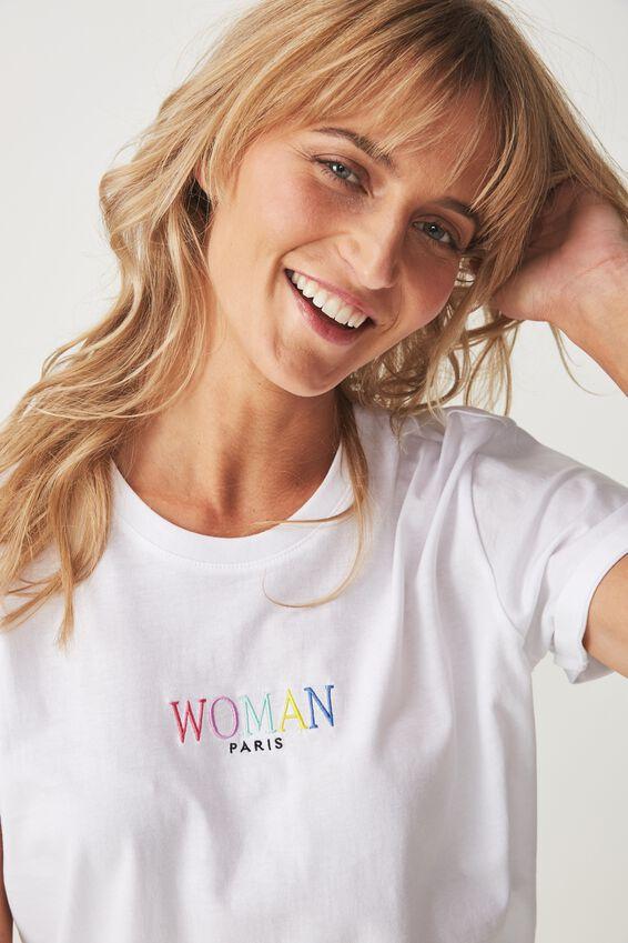 Tbar Fox Graphic T Shirt, WOMAN PARIS/WHITE