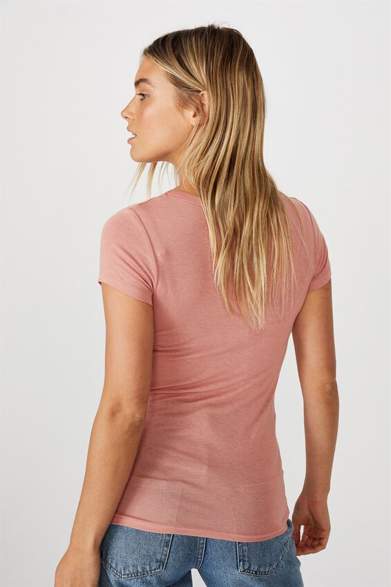 Sheer Vintage Scoop Tee, CANYON CLAY