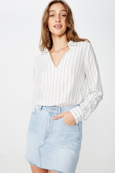 Blake 365 Shirt, HANNAH STRIPE CANNOLI CREAM