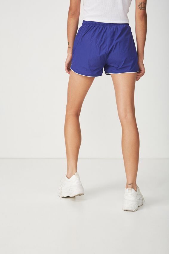 Becca Sporty Short, ROYAL BLUE PIPING