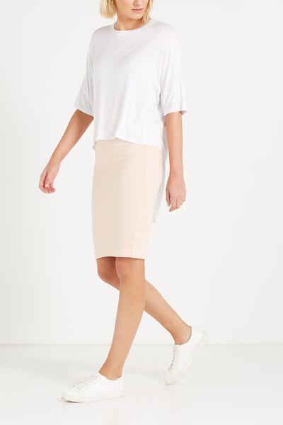 Midi Tube Skirt, MISTY PINK