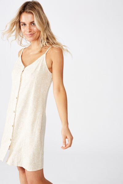 Woven Maisy Strappy Mini Dress, TILLY MINI FLORAL PARCHMENT