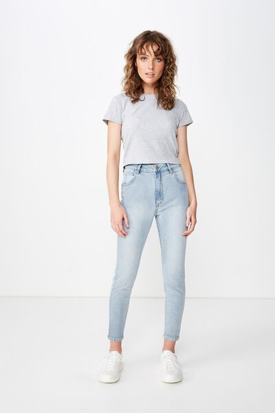 High Rise Grazer Skinny Jean, BLEACH STONE BLUE