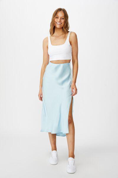 Belle Split Midi Skirt, DREAM BLUE