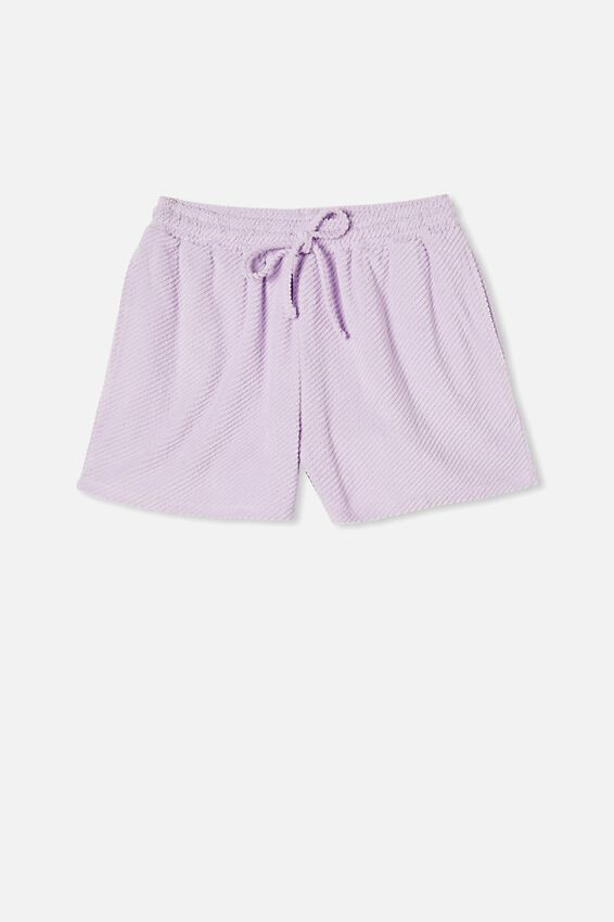 Terry Towelling Short, FROSTY LILAC