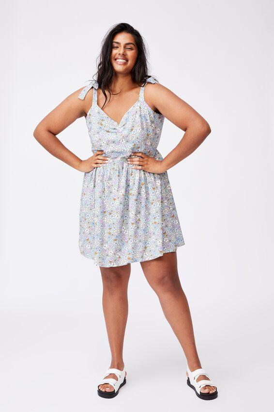 Curve Marni Mini Dress, GIA DITSY LUSH GREEN