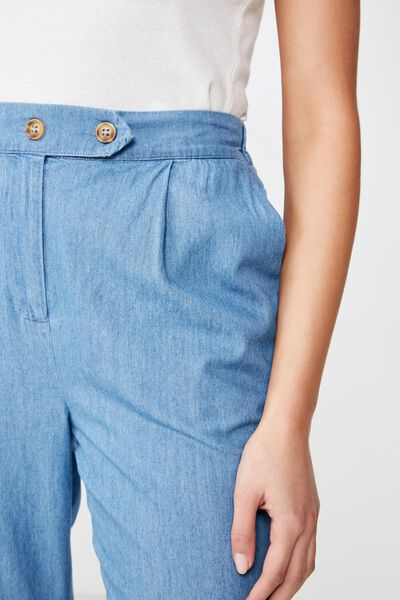 Ava Tapered Pant, MID BLUE