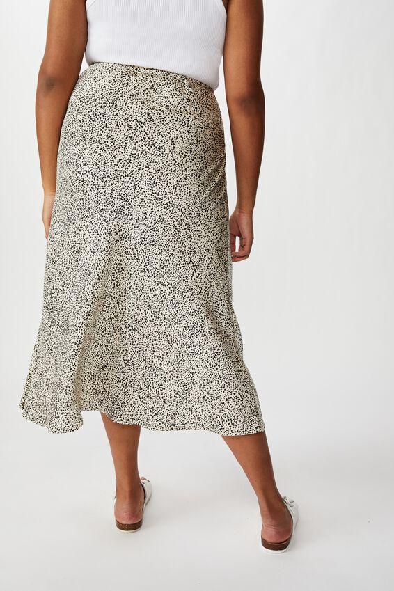 Curve Belle Midi Skirt, NATALIE SPOT PARCHMENT