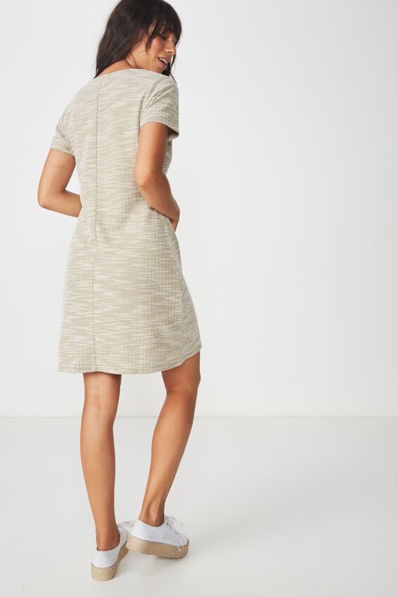 Marlow Button Through Mini Dress, SILVER SAGE TWIST