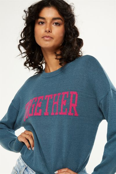 Tex Text Knit Pullover, TOGETHER