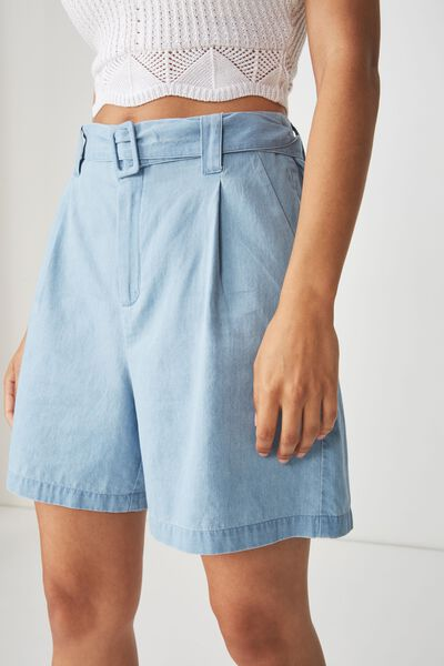 Layla Longline Short, CHAMBRAY