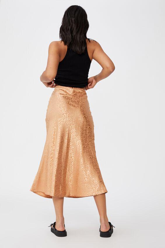 All Day Slip Skirt, SUMMER SAND LEOPARD JACQUARD
