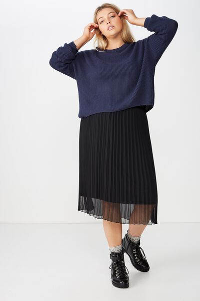 Curve Crop Pull Over, MOOD INDIGO