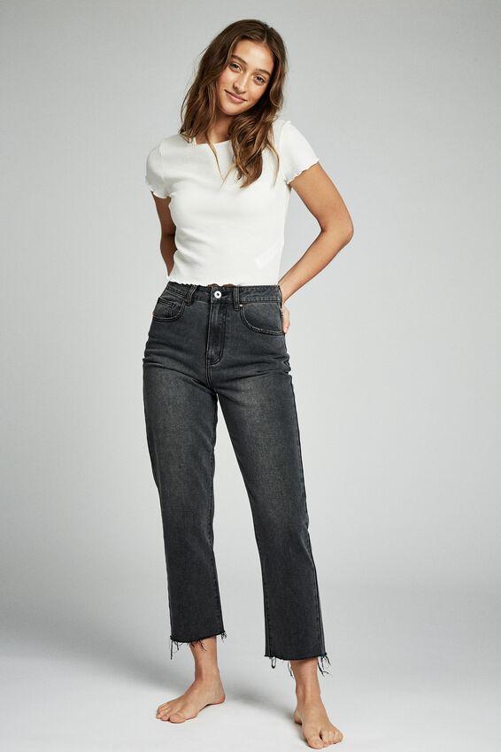 Straight Leg Jean, SUPER WASH BLACK
