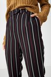 Ava Tapered Pant, MADISSON STRIPE STRETCH LIMO